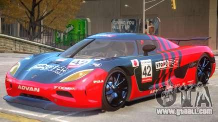 Koenigsegg Agera V1 PJ1 for GTA 4