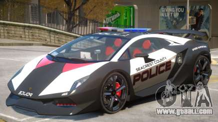 Lamborghini Sesto Police V1.2 for GTA 4