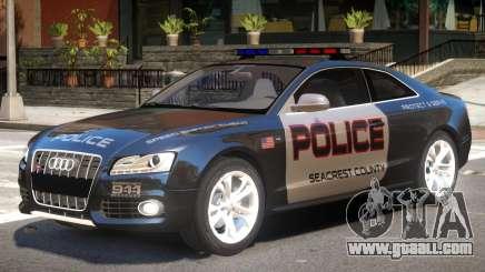 Audi S5 Police V1 for GTA 4
