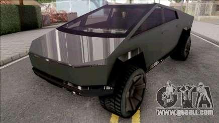 Tesla Cybertruck 2020 Low Poly for GTA San Andreas