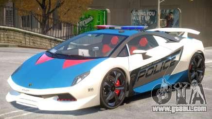 Lamborghini Sesto Police V1.4 for GTA 4