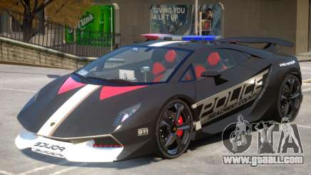 Lamborghini Sesto Police V1.3 for GTA 4