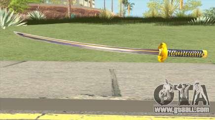 Yellow Katana for GTA San Andreas