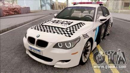 BMW M5 E60 Policia Metropolitana Argentina for GTA San Andreas