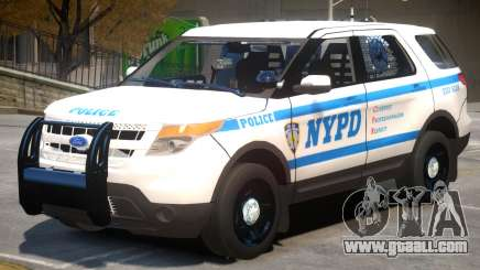 Ford Explorer V1 Police for GTA 4