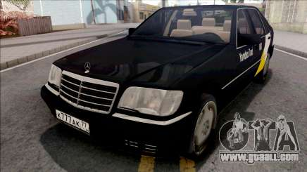 Mercedes-Benz S600L W140 Yandex Taxi Black for GTA San Andreas