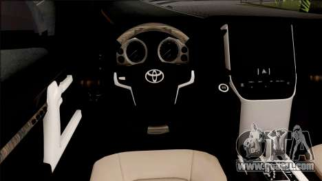 Toyota Land Cruiser GXR 200 2019 for GTA San Andreas