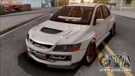 Mitsubishi Lancer Evolution IX Clinched for GTA San Andreas