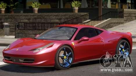 Ferrari 458 Italia V1.0 for GTA 4