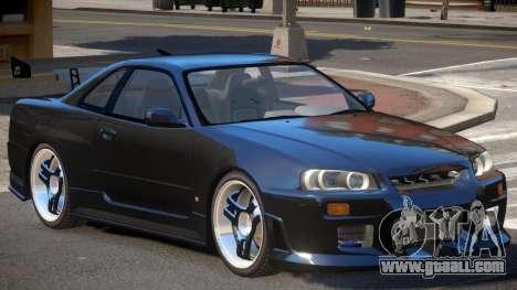 Nissan Skyline GT-R R34 V1.0 for GTA 4