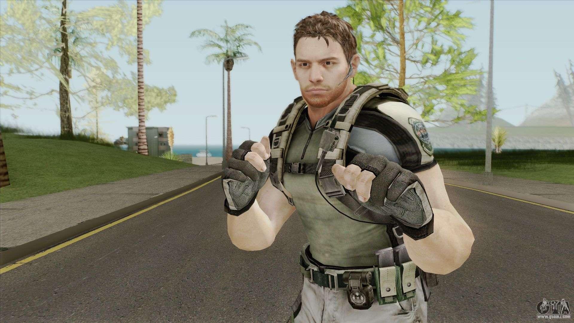 Chris Redfield Resident Evil 5 For Gta San Andreas