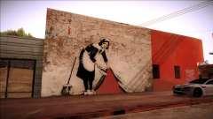 Graffiti by Banksy for GTA San Andreas