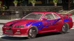 Skyline GT-R34 V1.0 PJ1 for GTA 4