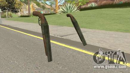 Double Barrel Shotgun GTA V (Green) for GTA San Andreas