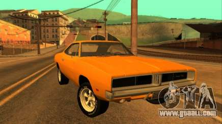 Dodge Charger RT 1969 Orange for GTA San Andreas