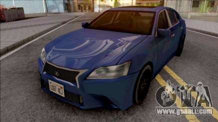 Lexus GS350 F Sport 2012 SA Style for GTA San Andreas