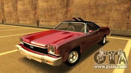 1973 Chevrolet El Camino SS 350 for GTA San Andreas