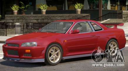 Nissan Skyline GT-R34 V1.1 for GTA 4