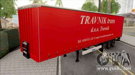 Travnik Trans Trailer for GTA San Andreas
