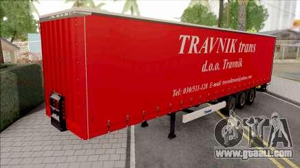 Travnik Trans Trailer for GTA San Andreas