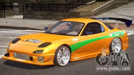 Mazda RX-7 Custom V1.0 PJ for GTA 4