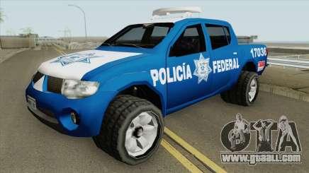 Mitsubishi L200 (De La Policia Federal Mexicana) for GTA San Andreas