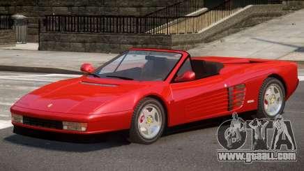 Ferrari Testarossa Roadster for GTA 4
