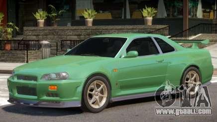 Nissan Skyline GT-R34 V1.2 for GTA 4