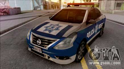 Nissan Versa 2019 Policia Federal Mexicana for GTA San Andreas