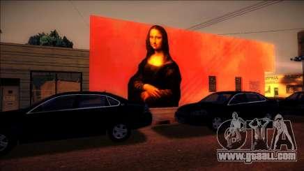 Mural Mona Lisa for GTA San Andreas