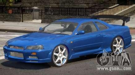 Skyline GT-R34 V1 for GTA 4