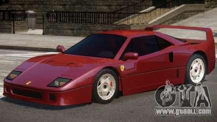 1987 Ferrari F40 for GTA 4