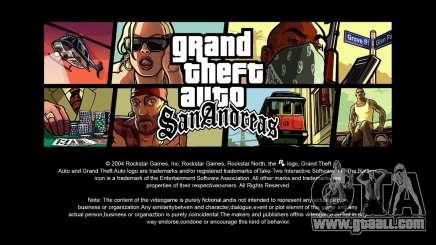 Loading screens in HD for GTA San Andreas