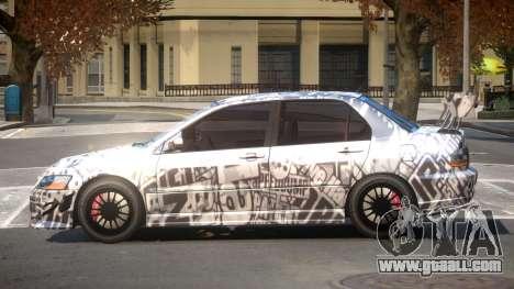 Mitsubishi Lancer Evolution 8 RS J5 for GTA 4