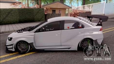 Mitsubishi Lancer Evolution X 2015 Varis Kit for GTA San Andreas