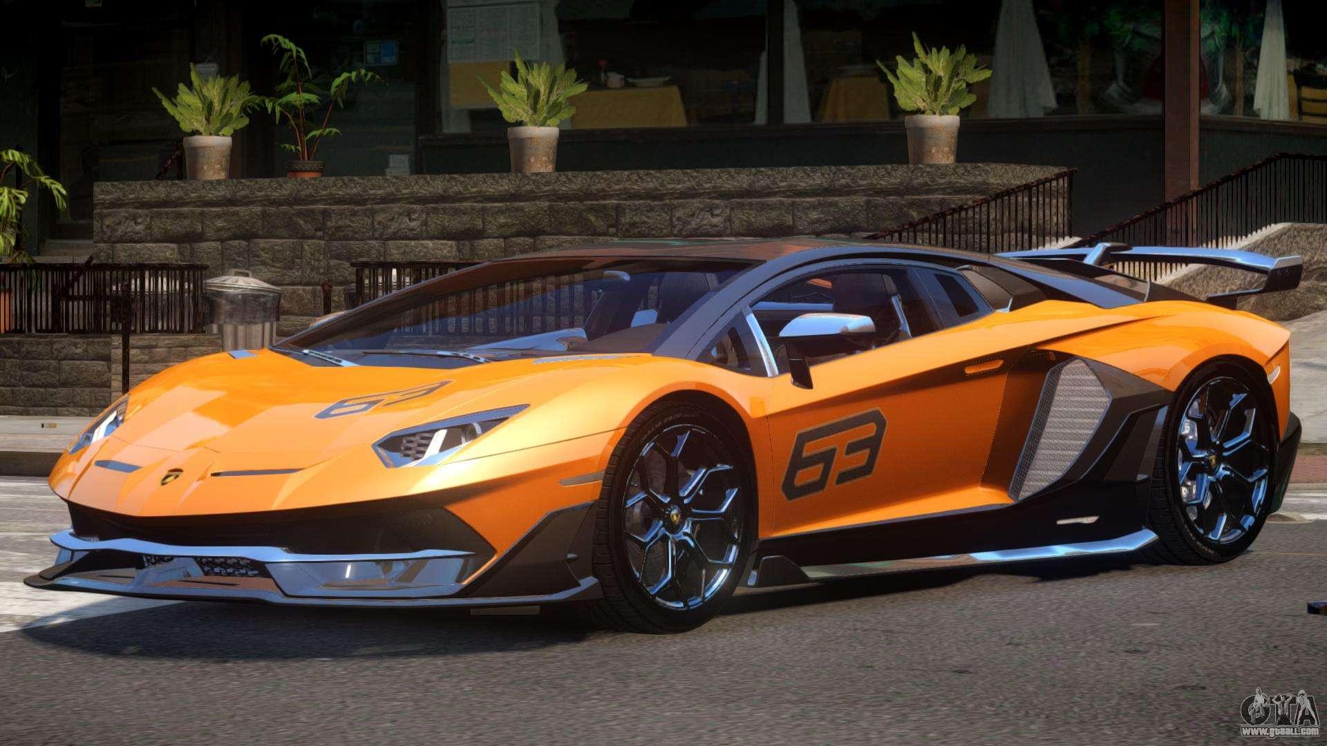 Lamborghini Aventador Svj 63 For Gta 4