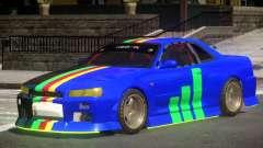 Nissan Skyline GT R34 V1.1 for GTA 4