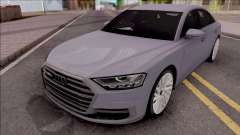 Audi A8 2018 Grey for GTA San Andreas