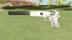 Silenced Pistol (White) for GTA San Andreas