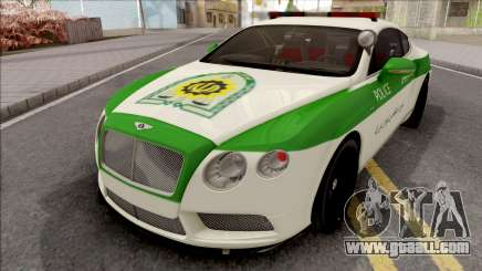 Bentley Continental GT Iranian Police for GTA San Andreas