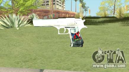 Desert Eagle (White) for GTA San Andreas