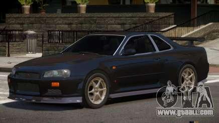 Nissan Skyline R34 RS V1.0 for GTA 4