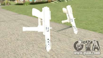 Tec-9 (White) for GTA San Andreas