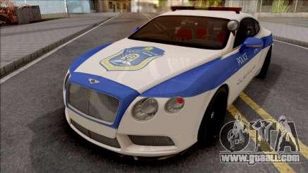Bentley Continental GT Iranian Police v2 for GTA San Andreas
