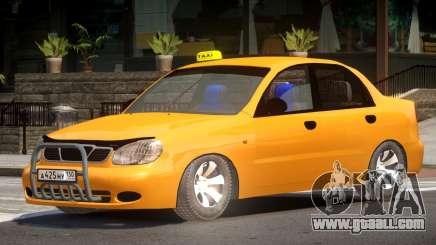 Daewoo Lanos Taxi V1.0 for GTA 4