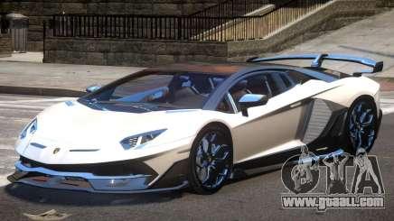 Lamborghini Aventador SVJ for GTA 4