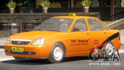 Lada Priora Taxi V1.0 for GTA 4