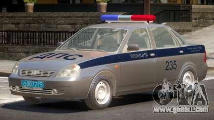 Lada Priora Police V1.0 for GTA 4