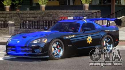 Dodge Viper SRT Police V1.0 for GTA 4