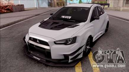 Mitsubishi Lancer Evolution X 2015 Varis Kit for GTA San Andreas